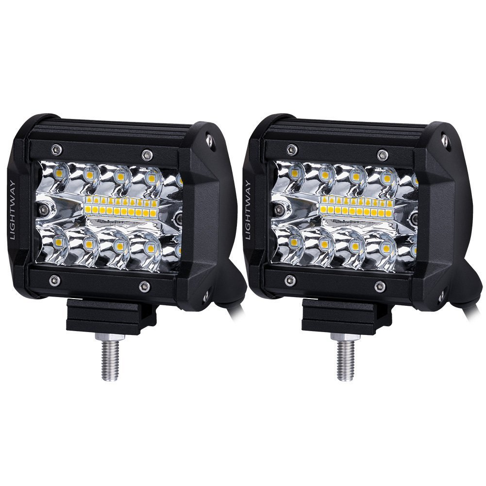 Lights Lighting Accessories Automotive Drives 10 Leds Liteway Led Pods 2pcs 140w Triple Row Light Bar 4 Inch Spot Flood Combo Beam Cree Driving Off Road Work For Truck Car
