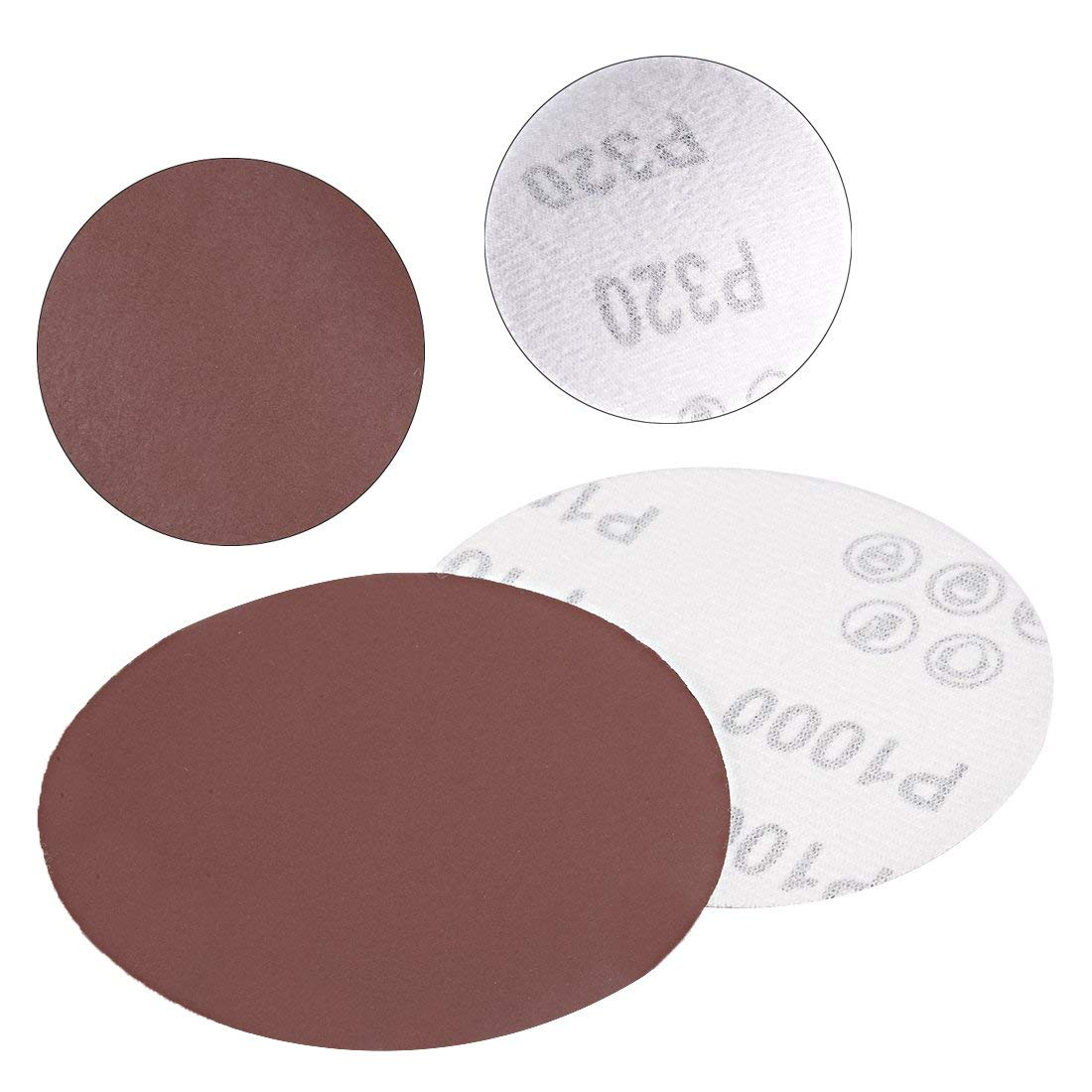 50Pcs 4-inch hook and loop sanding disc 1000 grained sandpaper for random orbit sander Brown