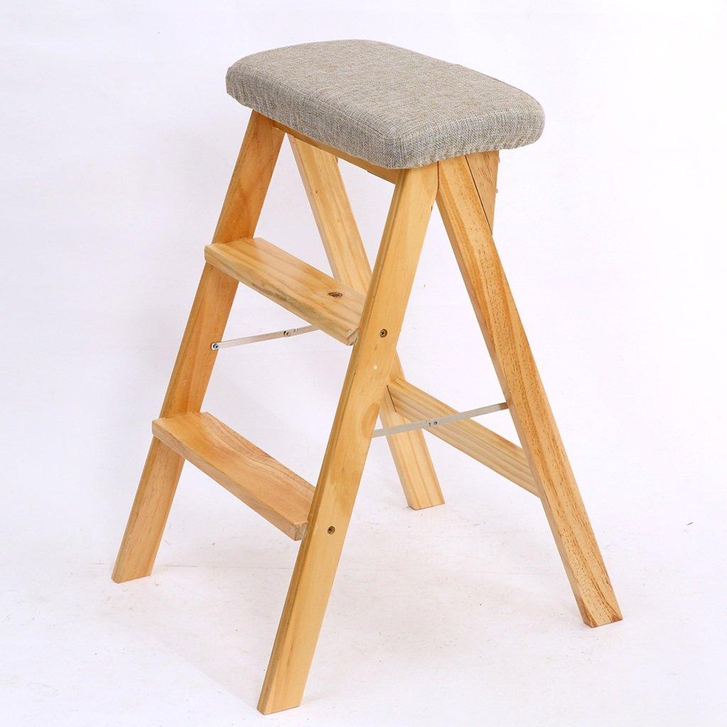 PENGFEI 折りたたみステップ多彩な 二重使用 バーチ 3色 3ステップ 、42 * 49 * 63CM 脚立 踏み台ステップ チェア (色 : 1#, サイズ さいず : 木の色) B0776WRB83 木の色|1# 1# 木の色