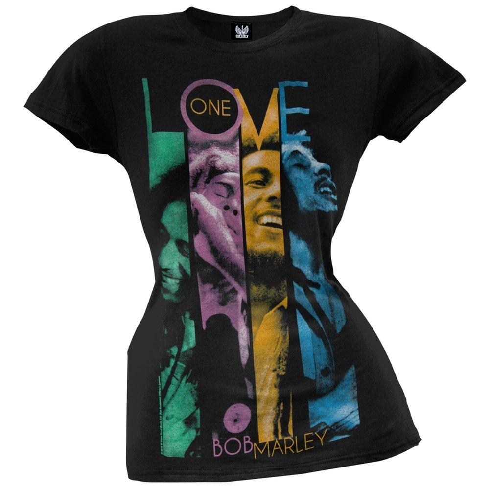 Bob Marley - One Love Faces Juniors T-Shirt - Medium