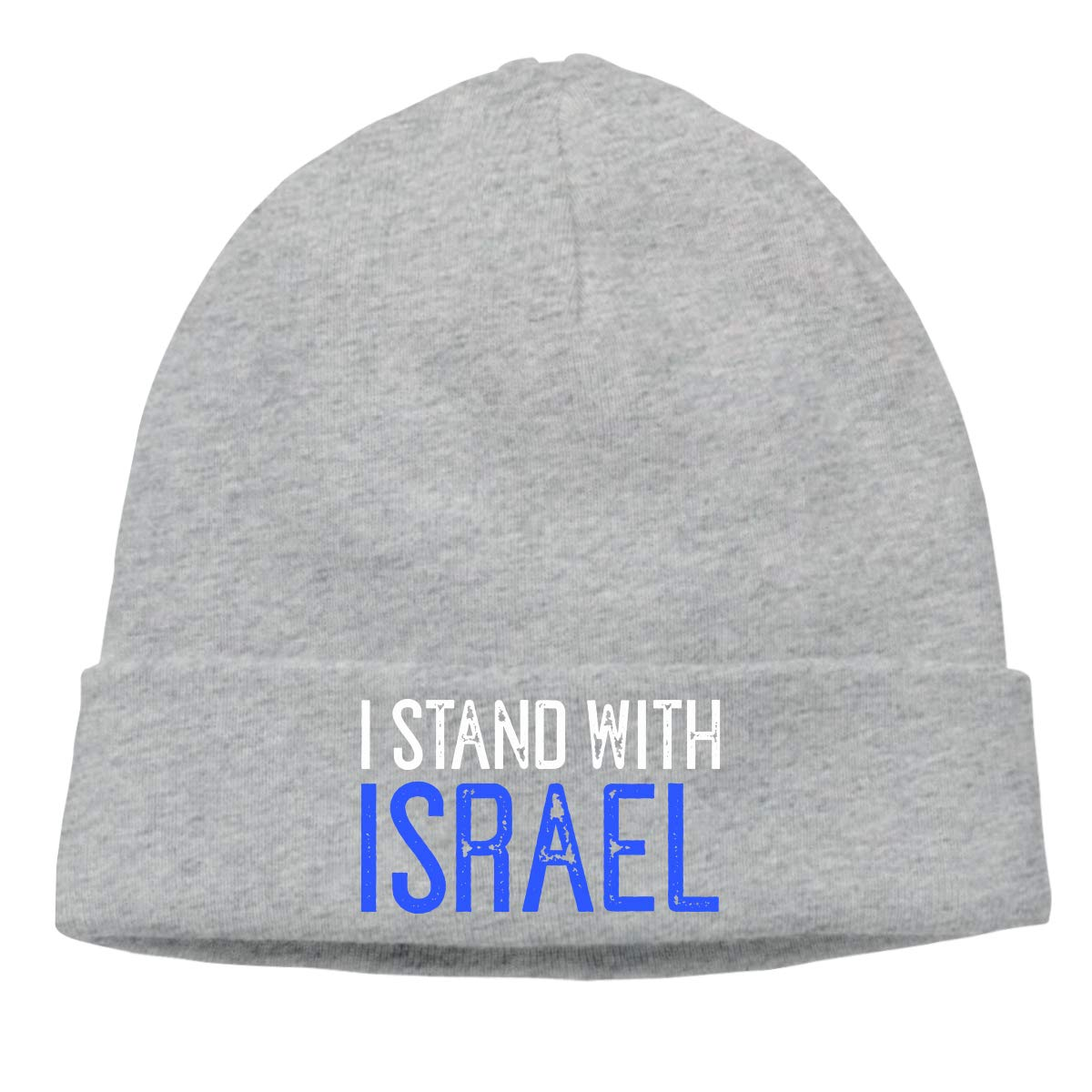 I Stand with Israel Support CgyOIUY-lop Beanie Hat Warm Hats Skull Cap Knitted Hat