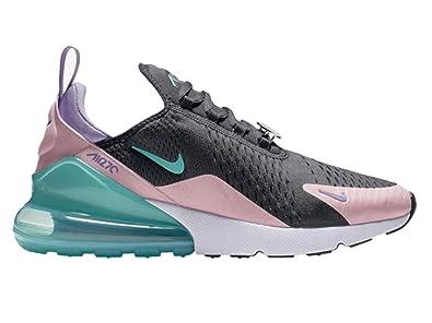 c9dcd4c4293f Nike Men s Air Max 270 Black Hyper Jade Bleached Coral Mesh Running Shoes 9