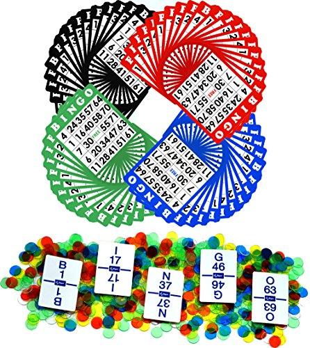- Regal Games Bingo Game Sets with 5.25 inch Bingo Cards, Bingo Calling Card Deck, and Bingo Chips (Mixed, Mixed 100 pack)