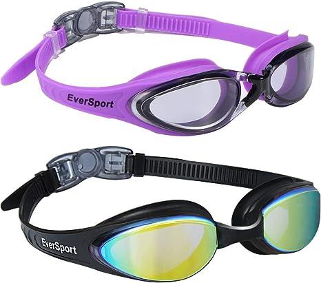 Adult Anti-fog UV Protection Lenses Swim Swimming Goggles Purple