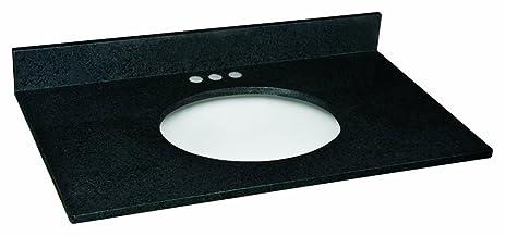 Nice Design House 553263 Granite Vanity Top/Single Bowl, Black Pearl, 37 Inch