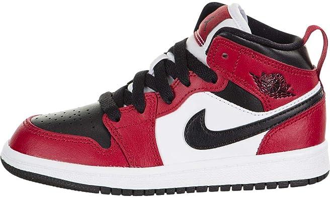 Jordan Little Kid's 1 Mid Chicago Toe Black/Gym Red (640734 069) -