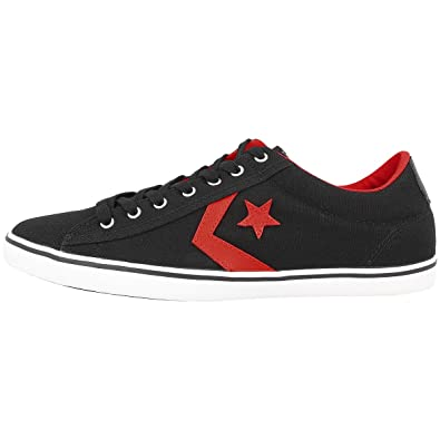 6ec79a4a3c5 Converse Star Player Lp Ox Mens Low Top Trainers Black Canvas ...