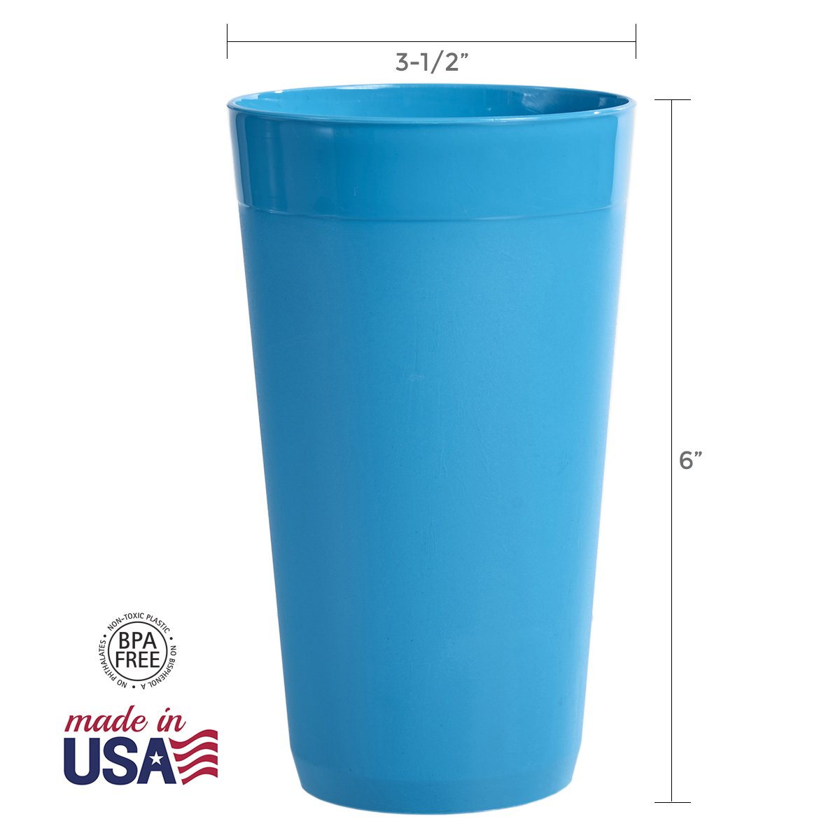 US Acrylic Newport 20-ounce Unbreakable Plastic Tumblers   set of 12 in 4 Coastal Colors by US Acrylic (Image #3)