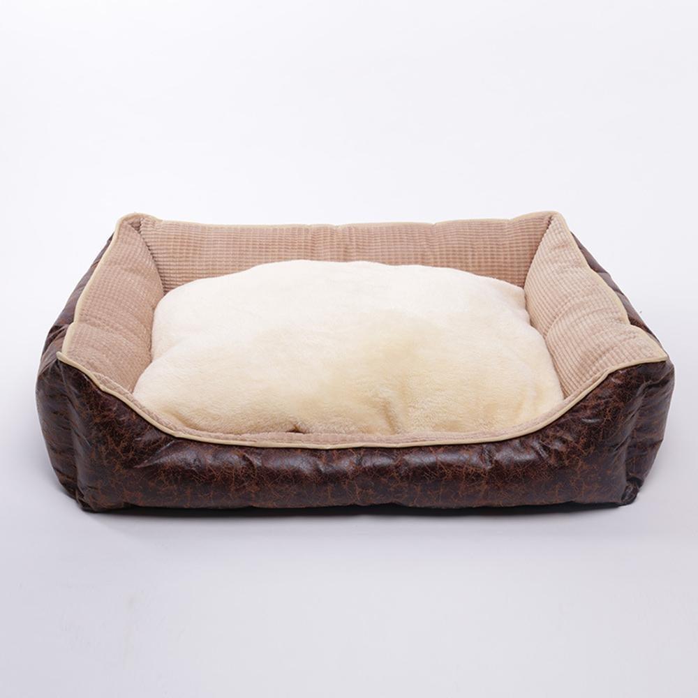 C 50x42x18cm C 50x42x18cm WUTOLUO Pet Bolster Dog Bed Comfort Kennel cat sleeping mat washable winter Pet Nest (color   C, Size   50x42x18cm)