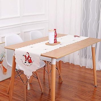 MJK Corredores de mesa, fiesta de Navidad Decoración navideña ...