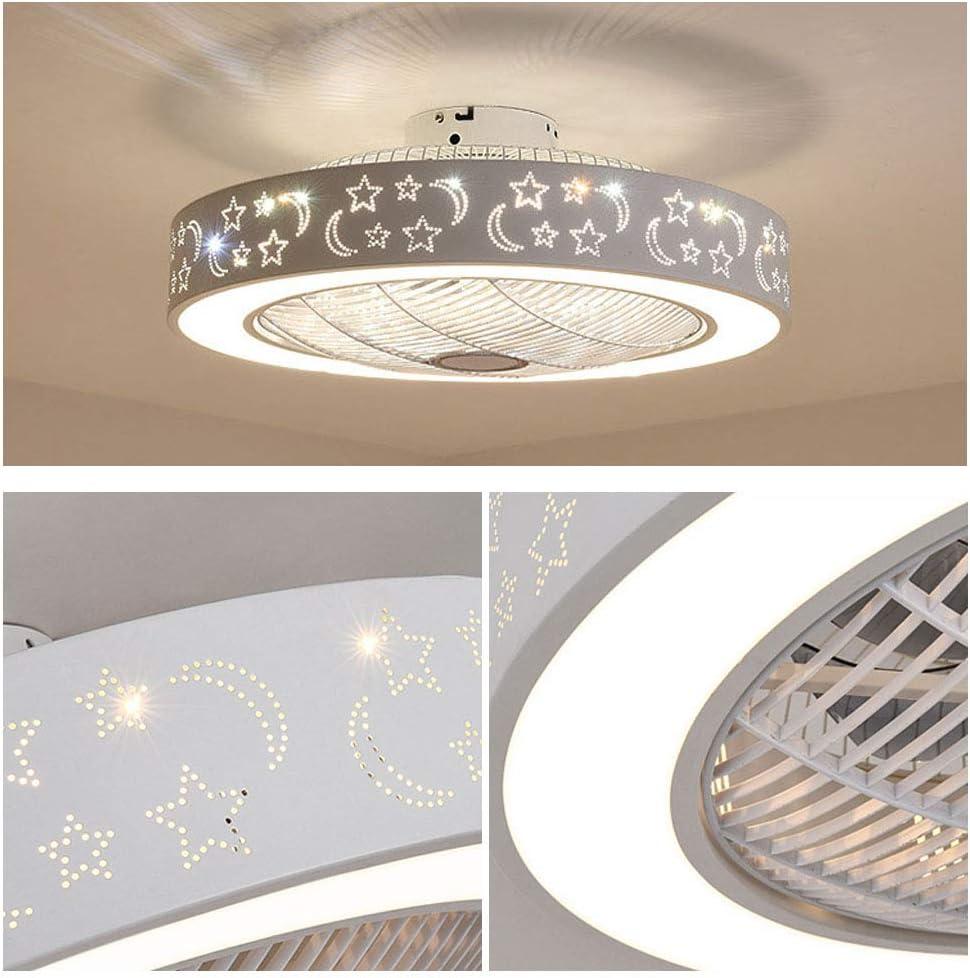 XDDY Plafonnier Ventilateur Silencieux /Éclairage De Plafond Lampe LED Variateur /À 3 Couleurs avec Telecommande Luminaire /Éclairage Int/érieur Salon Cuisine