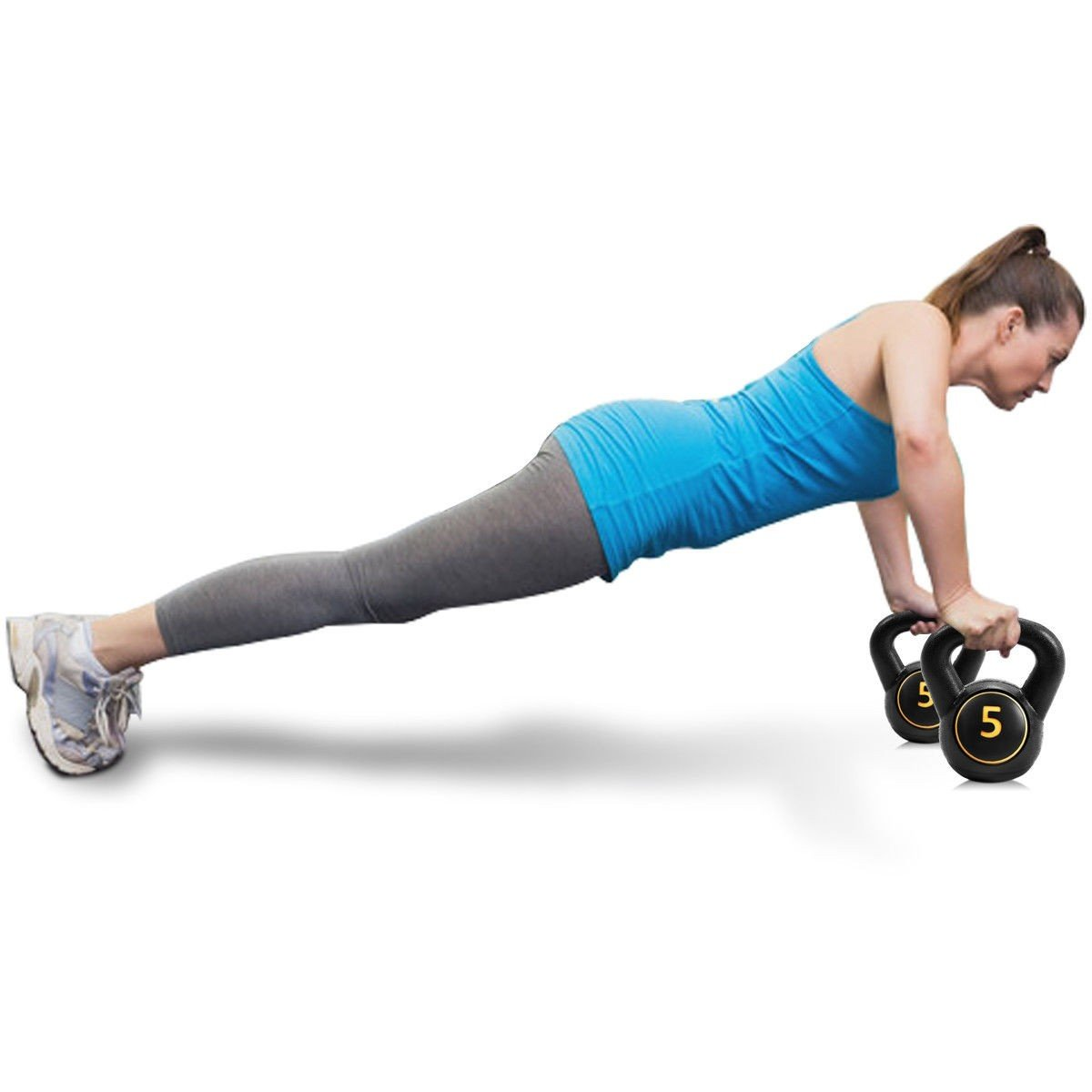 MD Group 3 pcs 5 10 15lbs Kettlebell Kettle Bell Weight Set by MD Group (Image #8)