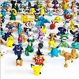 Oliasports Pokemon Action Figures, 144-Piece and 1.5-2.5 (cm)