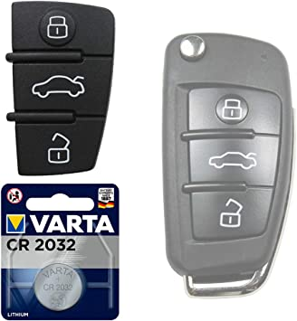 Auto Schlüssel Tasten Set 1x Tastenfeld 1x Batterie Elektronik