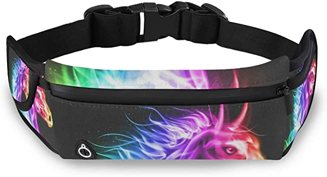 Horse Heartbeat Sport Waist Pack Fanny Pack Adjustable For Hike
