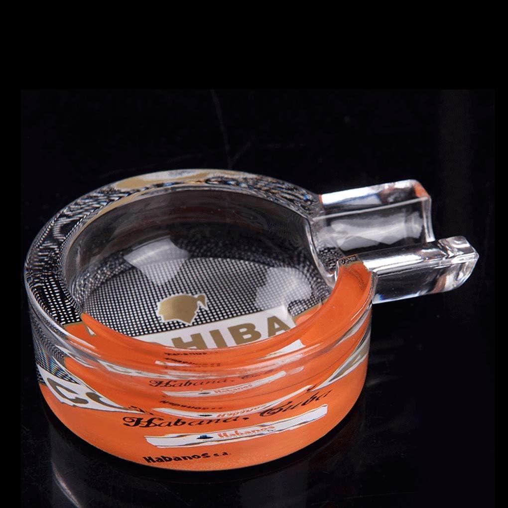 Color : Black, Size : F Ashtray Fashion Creative Personality Office Cigar Ashtray Crystal Home Glass Small Cigar Ashtray
