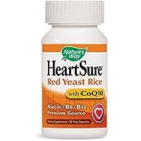 Nature's Way HeartSure Red Yeast Rice with CoQ10 + Niacin + B6 + B12 Premium Source, 60 Vcaps
