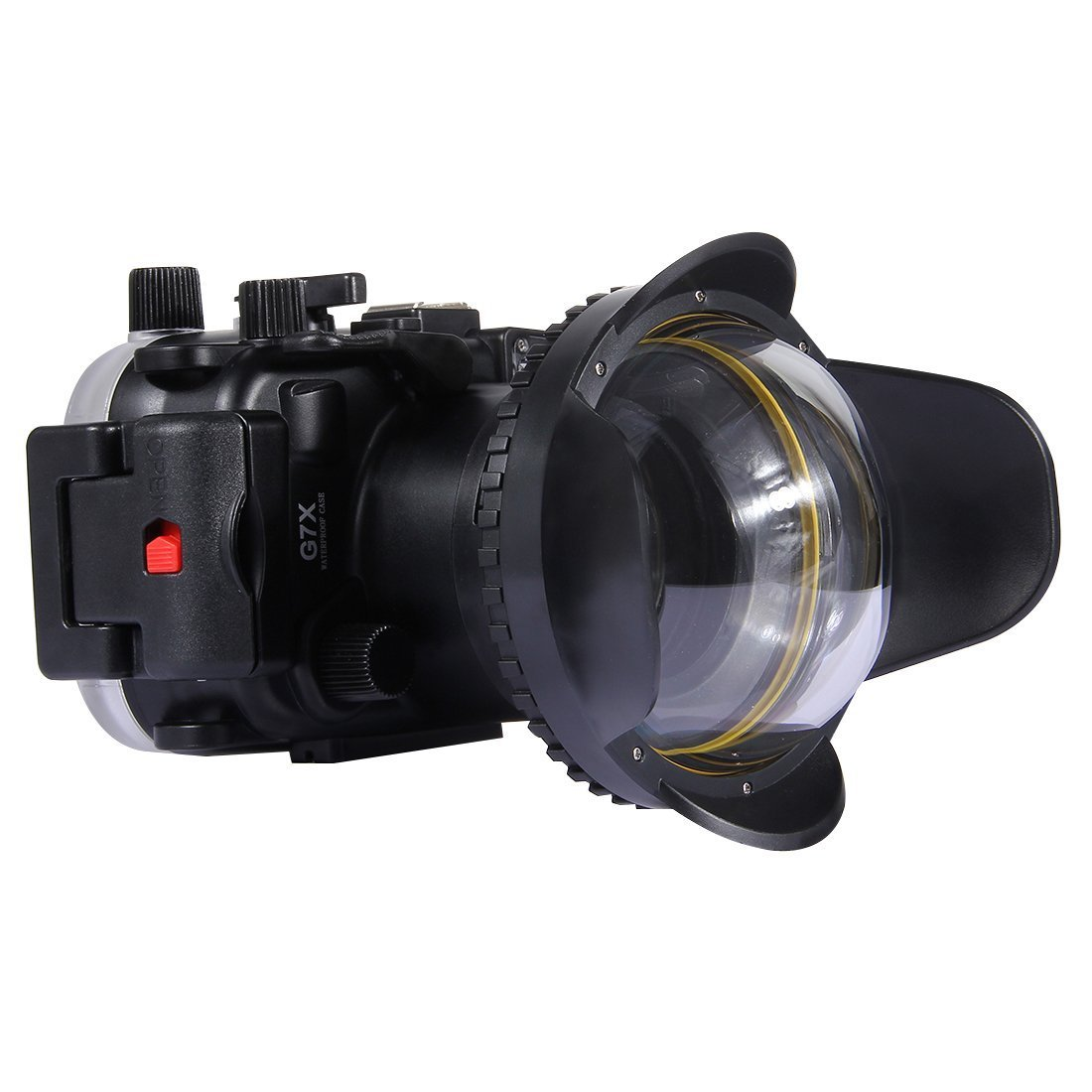 Market&YCY 光学魚眼レンズシェードアイレンズ 広角ドームポート 水中ハウジング用 (67mmラウンドアダプター) 40m/130フィート 水中深度   B07KLJMHPD