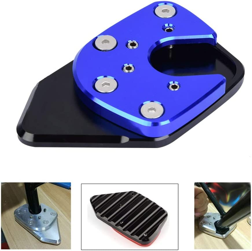 Motorcycle Anti-slip Side Stand Kickstand Extension Pad Enlarge Compatible with Honda NC750X//X-ADV 2017 2018 2019 Color : Red Side Stand Pad