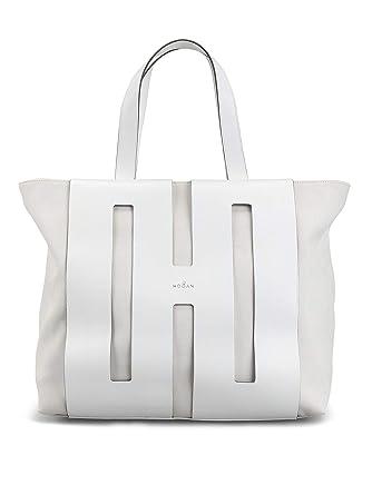 5ba5fc6b162 Image Unavailable. Hogan Women's Kbw015a0400ksub001 White Fabric Tote