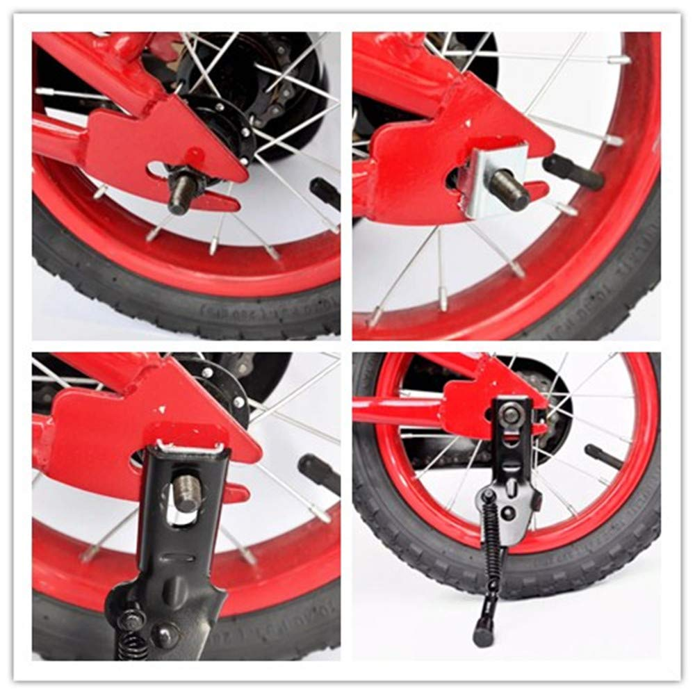AISHEMI Alloy Bike Bicycle Kickstand Single Non-Slip Bicycle Side Stand Support Rear Mount Stand for 14 16 Kids Bike