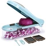 Sedhoom Mandoline Multifonction Professionnelle Couper Les Fruits et Les légumes Rapidement et uniformément de 3-Lames différentes en Acier Inoxydable et Facile à Nettoyer