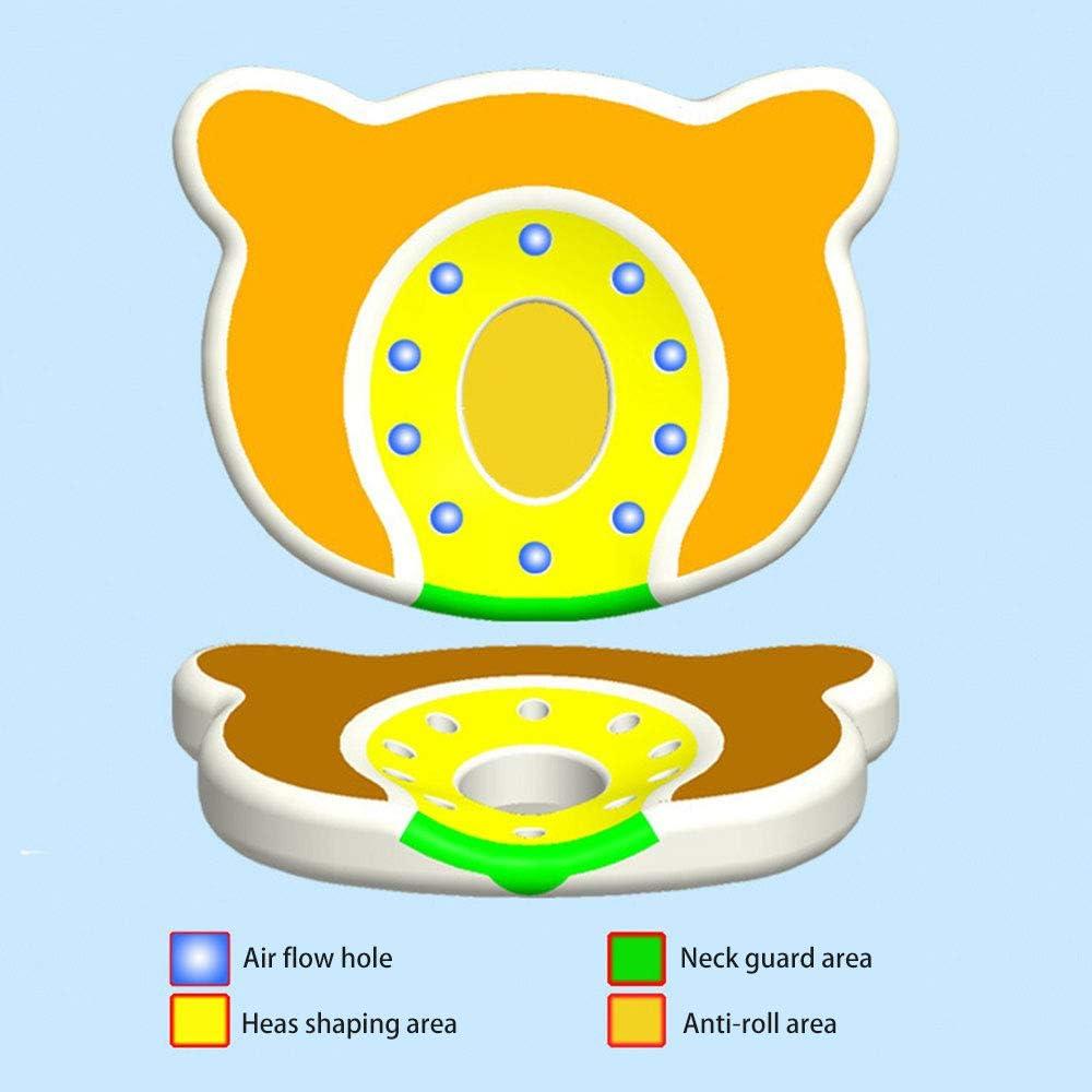 Festnight Newborn Baby Pillow Head Shaping Pillow Prevent Flat Head Memory Foam for Age 0-1 Blue