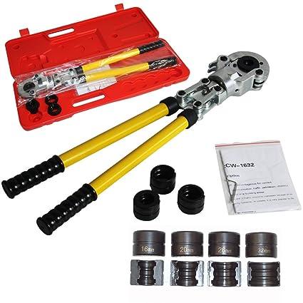 16 – 32 mm tubo de presión llave herramienta crimpadora de PEX aluminio compuesto