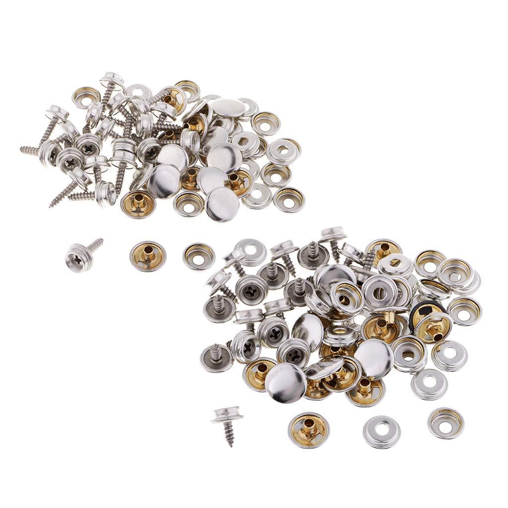 10 mm F Fityle 20 Piezas Botones Metalicos a Presion Corchete para DIY Artesan/ía