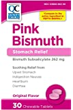 Quality Choice Pink-bismuth Chewable Tablets 30 Tablets ,  Boxes (Pack of 6)