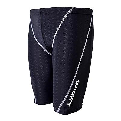 Men's Quick Dry Solid Square Leg Swimsuit