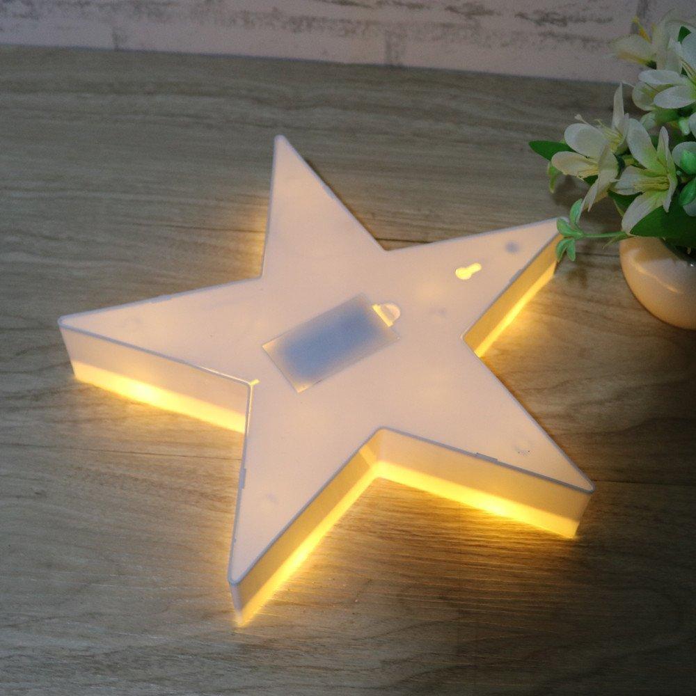 LED Lámparas Luces nocturnas - Pentagram Modelado Iluminación infantil nocturna Lámparas de pared, Lámparas Decoración casera para la sala de estar, ...