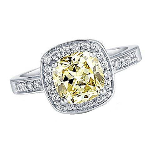 c4367af2c8de silverstargemsjeweller cojín corte citrino   D vvs1 diamante 14 K oro  blanco acabado de las