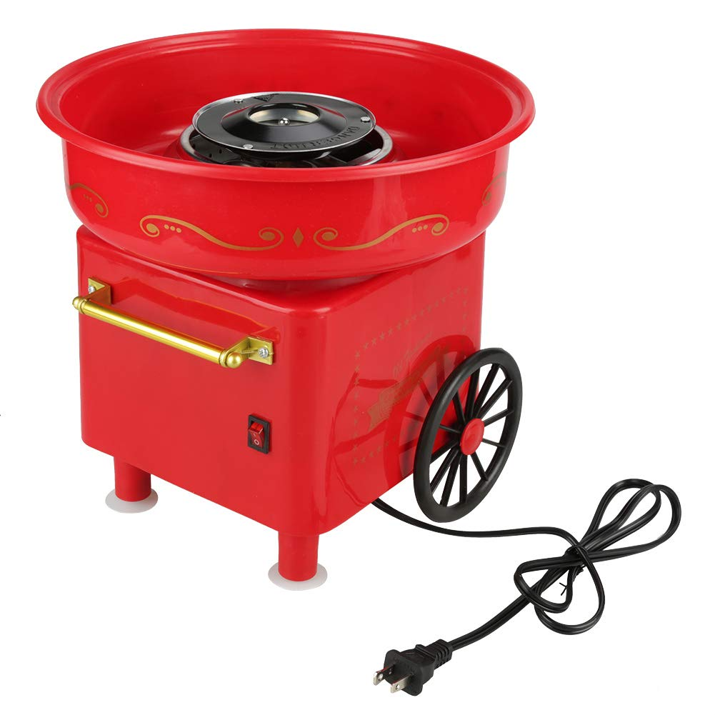 Electric Candy Floss Making Machine Cotton Sugar Candy Floss Maker Commercial Homemade Candy Machine - Red(110V US Plug) by Wal front (Image #2)