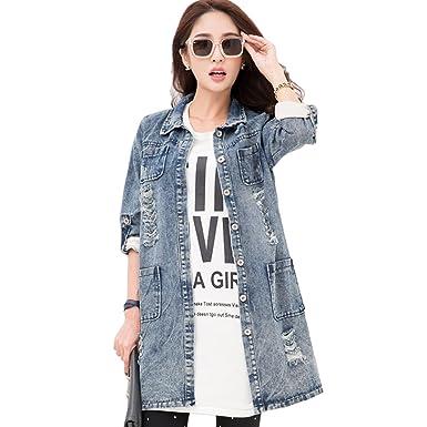Femme Veste Manches Style Retroussee En Long Mi Jean Ochenta Longues O5qZd5