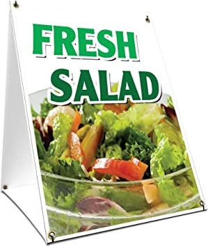 """A-frame Salad Bar Sign With Graphics On Each Side24/"""" X 36/""""Heavy Duty"""