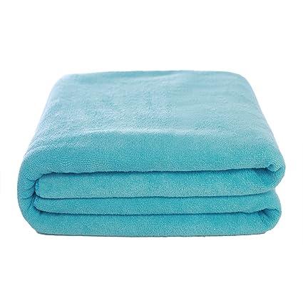 Amazon Com Large Bath Towel Widen Soft Solid Color Bath Towel Lake