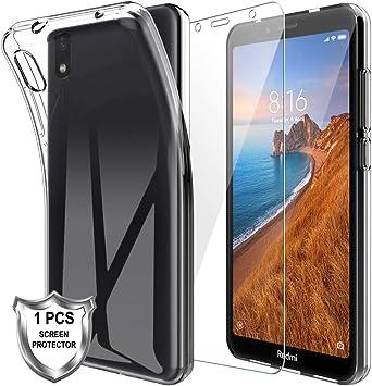 MP-MALL Funda para Xiaomi Redmi 7a, Carcasa Cubierta Caucho Suave ...