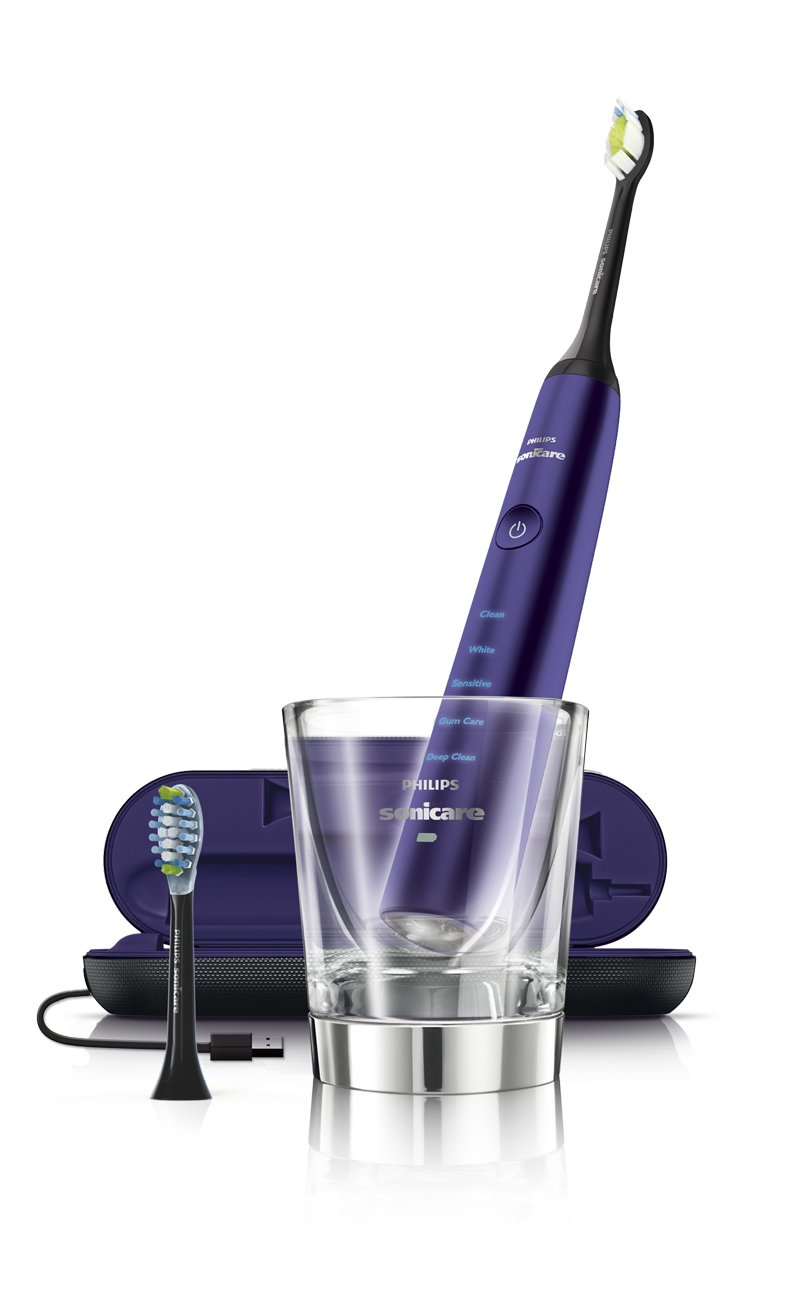 Philips Sonicare Diamond Clean Rechargeable Toothbrush w/Deep Clean Mode with Adaptive Clean Brush Head, Amethyst