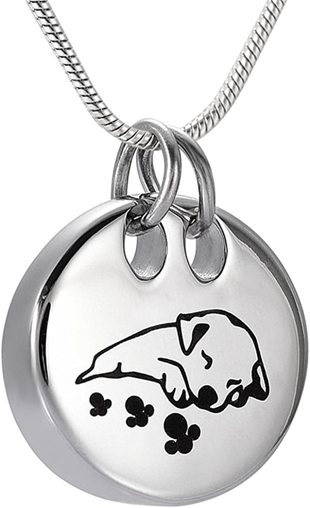 Gift Box memorial jewelry Dog Puppy Cremation Urn Necklace Ashes Keepsake Fill Kit