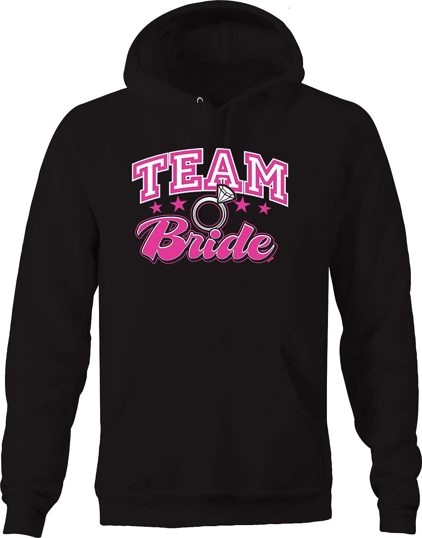 Team Bride Diamond Ring Wedding Marriage Wife Mom Grandma Love Hoodies for Men