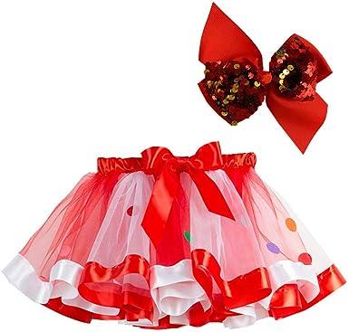 US Toddler Baby Girl Frilly Tutu Dress Skirt Kid Dance Party Birthday Photo Prop