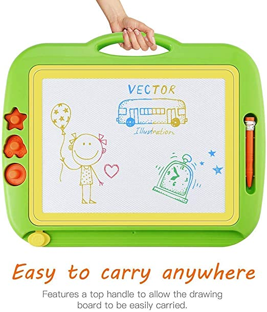Super Sketcher High Resolution Magnetic Drawing Board For Kids Arts Crafts Erasable Doodle Multicolors Scribble Suitable From 3 Years Travel Size Writing Pad Educational Learning Board