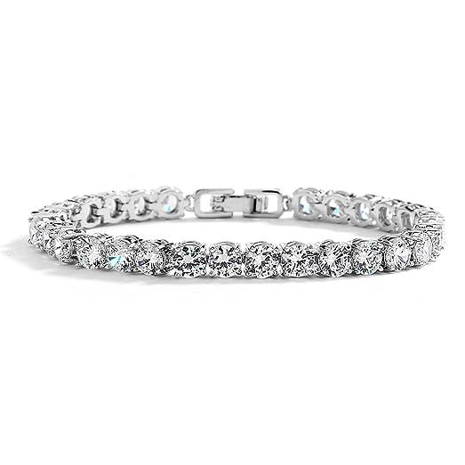 "Amazon Mariell Glamorous Platinum Silver 6 1 2"" Petite Size"