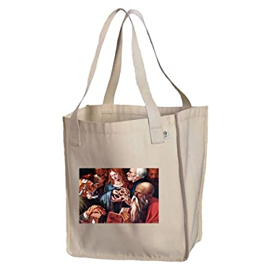 12 Year Old Jesus & The Scribes (Durer) Organic Cotton Canvas Market Tote