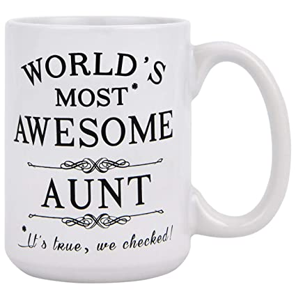 Coffee Mug Birthday Unique Gift For Aunt Cool Ideas Auntie Best Ever