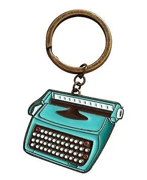 Anillo de llavero para la organización de las llaves caseras del coche - diseño de la máquina de escribir: Amazon.es: Oficina y papelería