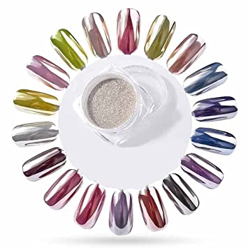 Holographic Nail Powder Dust Sunenjoy Glossy Pearl Mirror Chrome