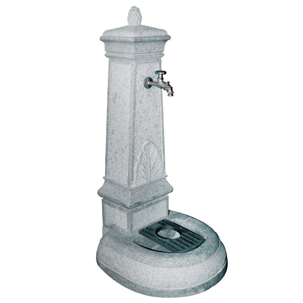 Gartenbrunnen Granit Volturno für Gartenmöbel Piazza