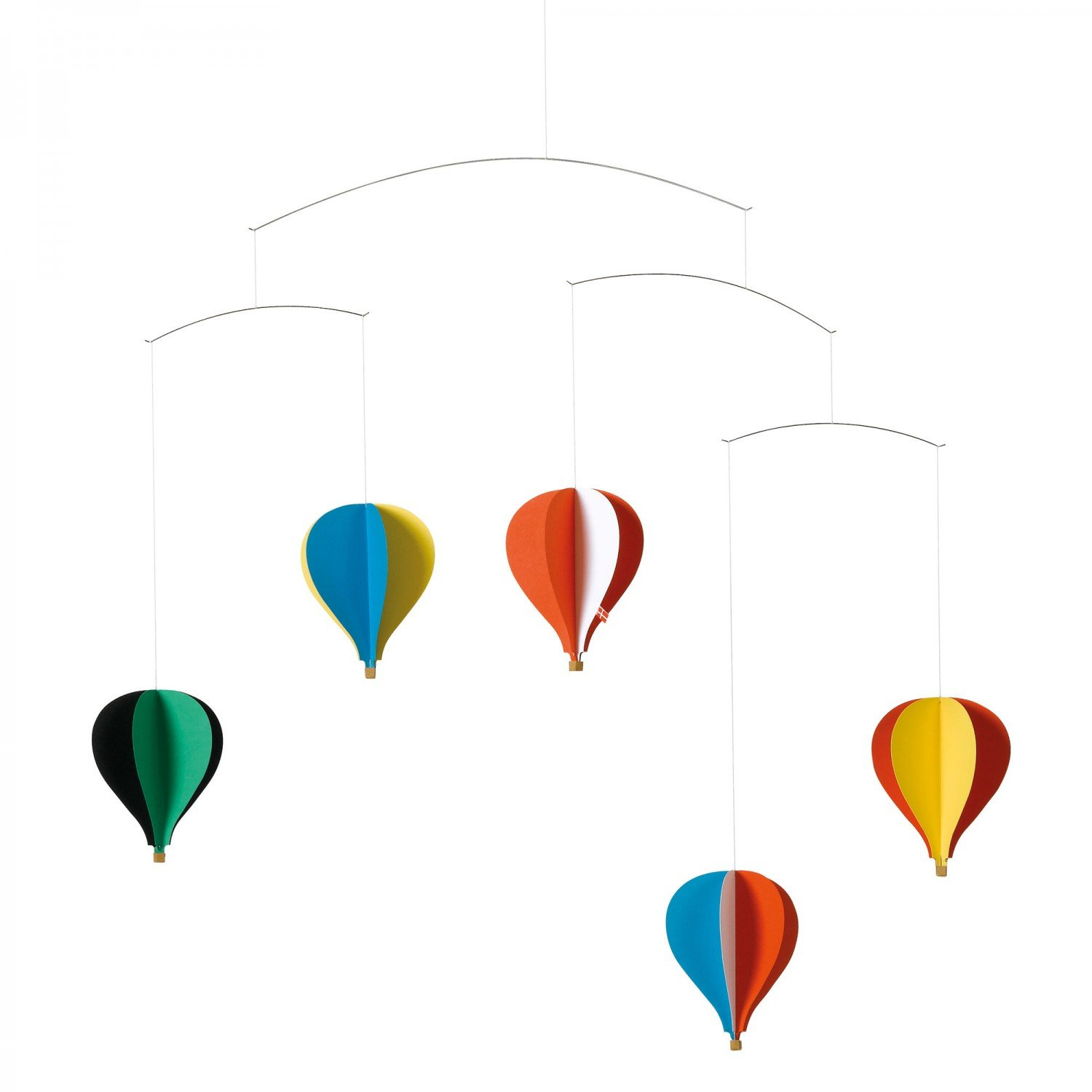 Flensted Mobiles 5 Balloon Hanging Nursery Mobile - 26 Inches Cardboard f078b